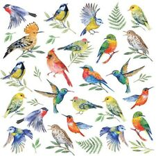 4 Lunch Paper Napkins for Decoupage Craft Vintage Napkin Birds Votes