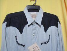 VTG 1950s ROCKMOUNT SMILEY POCKETS Diamond Snaps Rockabilly Rayon Western Shirt