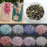 1000PCS Colour Crystal Flat Back Nail Rhinestones Gems DIY Art Making Acces