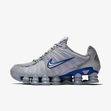 Nike Shox TL Mens Grey and Blue Shoes / Trainers