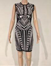 Bardot Modern Geo Bodycon Dress Black White Size 12 BNWT RRP $129.95