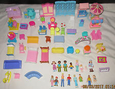 Fisher Price Sweet Streets Furniture 16 Figures Lot Baby Girl Boy, MORE!