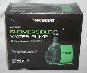 VIVOSUN 800GPH Submersible Pump 3000L 24W Water Pump for Fish Tank Pond Aquarium