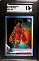 2019-20 Donruss Optic Coby White SP Holo Prizm Rated Rookie RC SGC 10 GM Bulls