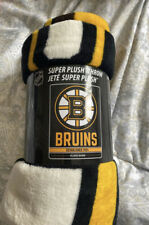 Boston Bruins NHL Fleece Throw Blanket NEW Hockey Blanket
