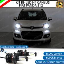 KIT LED H4 6000K CANBUS XENON 18000 LM LUMEN REALI FIAT PANDA MK3 III NO AVARIA