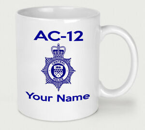 Personalised AC-12 Line of Duty Mug Novelty Police Fathers Day Funny AC12 Cup