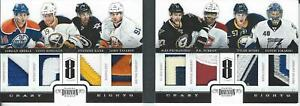 2011-12 Panini Dominion Crazy Eights Patch /5 EBERLE TAVARES KANE PIETRANGELO +