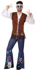 Déguisement Homme HIPPIE Bleu XL Costume Adulte Années 60 NEUF