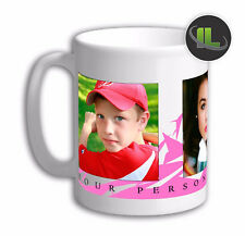 Personalised 3 PHOTO COLLAGE WITH DOTS DESIGN 6 Add Name&Text on Mug.Edit-IL2048