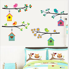 Bird's Nest Cartoon Removable Wall Stickers For Kids Rooms Decor YXH6