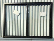 860h x 1210w BRAND NEW Aluminum Sliding window Custom Black Float