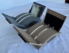 2 VTG Zephyr American Rolodex V-File Model No. V535 Gray Tan Metal Adjustable