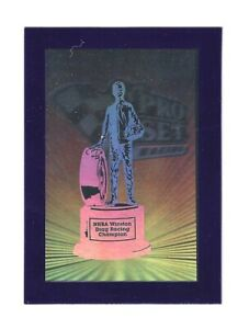 1992 Pro Set #NNO NHRA Trophy BLUE HOLOGRAM SUPER SCARCE! BV$80! #1946/5000!