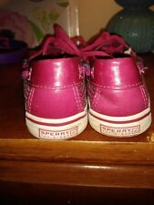 Little Girls HOT PINK Sperry top Sider boat casual dress shoes size 1