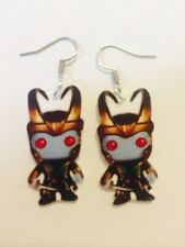 Loki Jotun Doll Earrings HANDMADE PLASTIC CHARMS Thor Tom Hiddleston Marvel