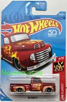 HOT WHEELS 2018 HW FLAMES '49 FORD F1 RED