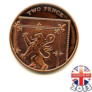 A 2013 British Copper-Plated Steel ELIZABETH II Two Pence 2p coin