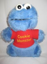 VTG Cookie Monster Rattle Plush Sesame Street 12P10 Retro Toy Stuffed Animal Toy