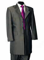 MENS 2 PIECE SILVER GREY MOHAIR PRINCE EDWARD SUIT FORMAL WEDDING MORNING PROM