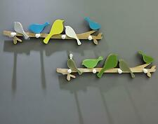 Creative Wooden Bird Hangers Coat Hat Rack Wall Hook Home Decor Crafts 4 Hooks