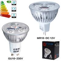 Lámpara LED SMD GU10 230V / MR16 DC 12V 4W=40W  Blanco cálido/ frío Lumen
