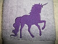 UNICORN MAGICAL DESIGN EMBROIDERED, LAVENDER COLOR HAND TOWEL