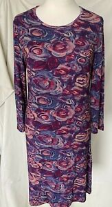 Adini viscose jersey  tunic  semi fitted 3/4 sleeves crew neck might be a dress