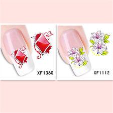 2Sheet/New Fashion Trend Beautifully Beautiful DIY Nail Stickers XF1360+1112