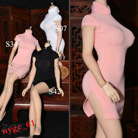 1/6 Female Tight Cheongsam Dress Skirt Suit Clothes 12'' Phicen Figure Accessory