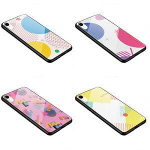 Glass Bumper Case Abstract, geometric shapes colorful  K79 S8 S10 XR