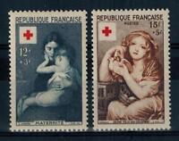 (a17)  timbres de France n° 1006/1007 neufs** année 1954