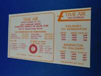 TIME AIR AIRLINE MINI SCHEDULE POCKET TIMETABLE SEPTEMBER 1974 RESERVATIONS