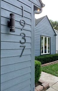 10 inch Modern House Address Numbers Letters, color choices
