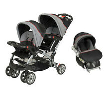 Baby Trend Sit N Stand Double Infant Toddler Stroller Travel System w/ Car Seat