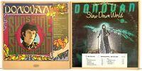 Donovan LP Vinyl Record Album Lot: Slow Down World (Promo) + Sunshine Superman