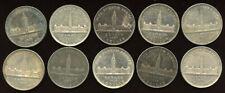 Lot of 10 x 1939  Canada  Commemorative Parliament Silver Dollar AU's - Sale