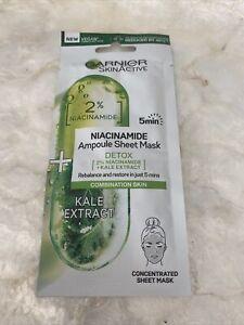 Garnier SkinActive 2% Niacinamide Detox Ampoule Sheet MaskGarnier SkinActive NEW