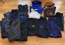 Nike Mens Medium Hoodie Sweatshirt Under Armour Sweatpants Mens Lot Of 14 Items