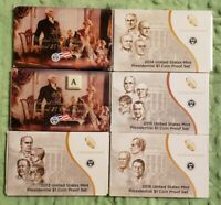 2007 2009 2013 2014 2015 2016 U.S Mint Presidential dollar coin Proof Sets #71