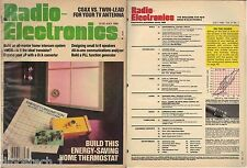 VINTAGE Magazines - Radio Electronics 1980-1986 issues, Projects,Hobby,PCB,Fun
