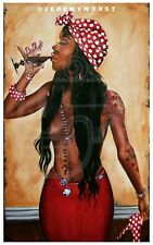 """""""Conjure"""" Jeremy Worst  Sexy african american Wall Art bar Artist pinup style"""