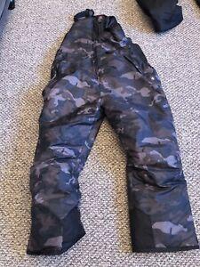 Mens 2XL Snow Bibs Black/Army