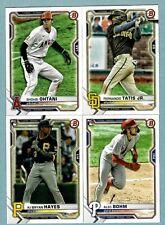 2021 Bowman Baseball Base Set Vets & RC's #1-100 - Complete Your Set ~ You Pick!
