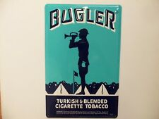 Metal Bugler Cigarette Sign Bugle Boy Army Band Camp Tobacco Snuff Military