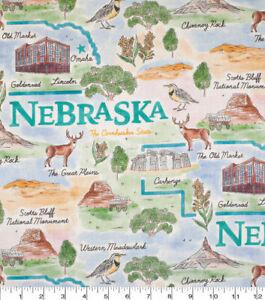 Nebraska State Pride Premium 100% Cotton Fabric