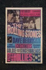 The Rolling Stones Tour Poster 1964 Futurist Dave Berry