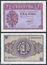 1 peseta año 1937  Burgos   SC  /  Spain Pick 104 a UNC