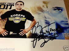 "Ryan ""Baby Face"" Benoit MMA Fighter UFC Autographed 8x10 Signed Promo Picture"