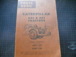 CAT Caterpillar 641 651 Tractor Parts Manual Book List